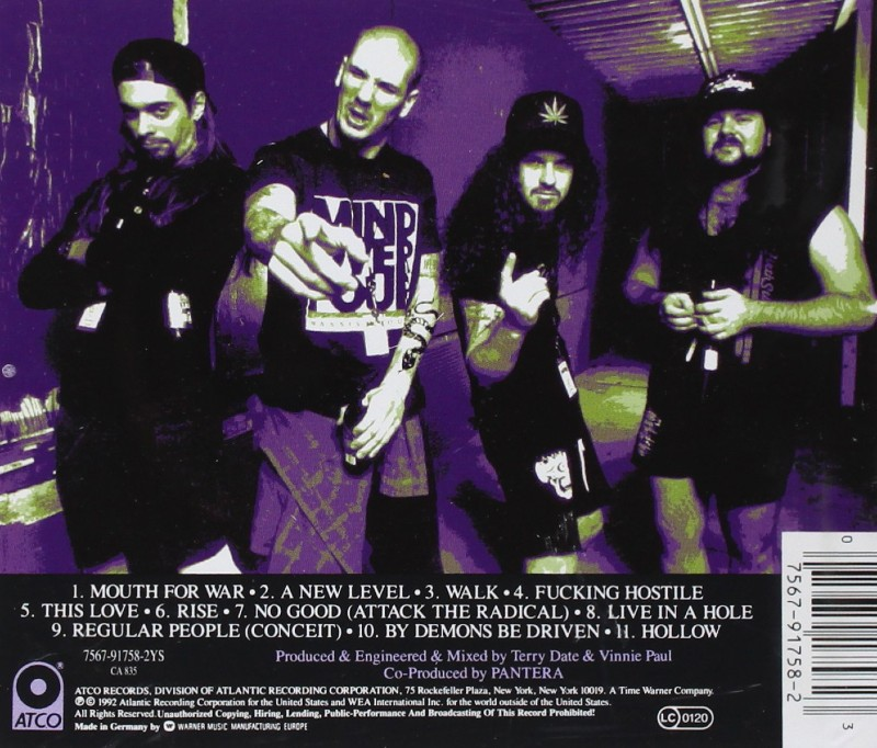 Pantera Vulgar Display Of Power Album Culte De Metal Couverture Arriere